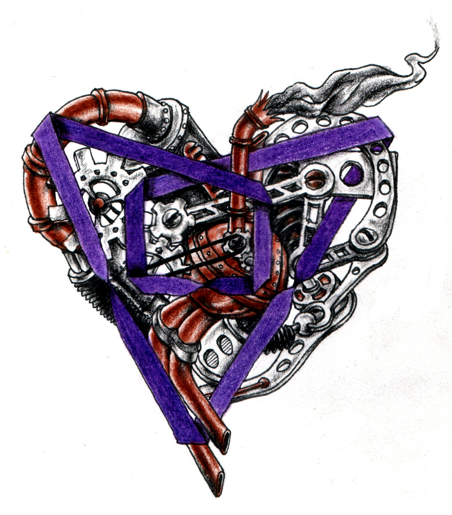 Steampunk Poly Heart